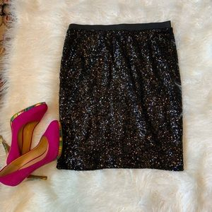 The Limited Fun Sequined Black pencil Skirt Size M